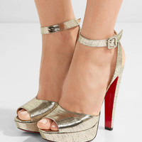 Christian Louboutin - Louloudancing 140 metallic leather platform sandals