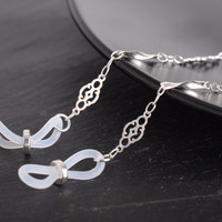 Vintage Style Glasses Chain in Silver