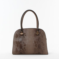 Python Print Shoulder Bag in Stone