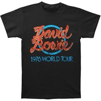 David Bowie Men's  1978 World Tour Slim Fit T-shirt Black