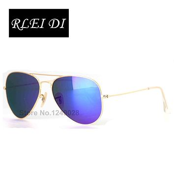 Rlei Di Hot New Kid Sunglasses Fashion Children Reflect Light Sun Glass UV400 Protection Items Girls Boy Baby Eyewear 54mm Lens