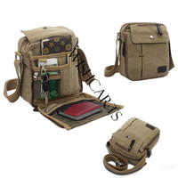 2014 New Men's Vintage Canvas Multifunction Travel Satchel / Messenger Shoulder Bag (Color: Brown) = 1645901764