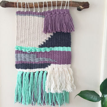 Pop of Color Weaving Wall Art Fiber Hanging