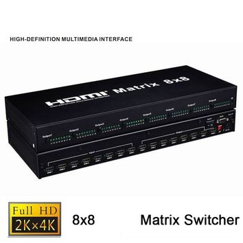 Quality 8X8 HDMI Matrix Switcher 8 In 8 Out HDMI 1.4b Splitter 4K HDMI Switch Matrix With RS-232 Support  HDCP1.4