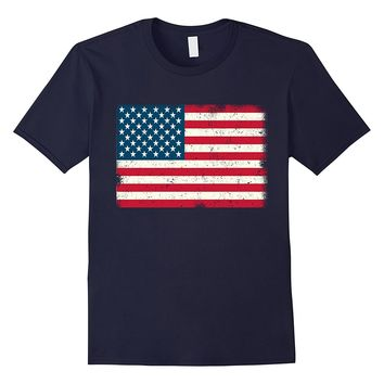 American Flag T-Shirt 4th July Red White Blue Stars Stripes