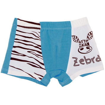 1-16Year Baby Boys Girls Boxer Shorts Cartoon Zebra Boy Girl Underpants Children Underwear Pants 100%Cotton Kids Clothing