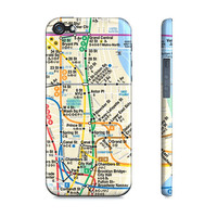 Modern New York Subway Transit Map - Premium Slim Fit Iphone 5 Case
