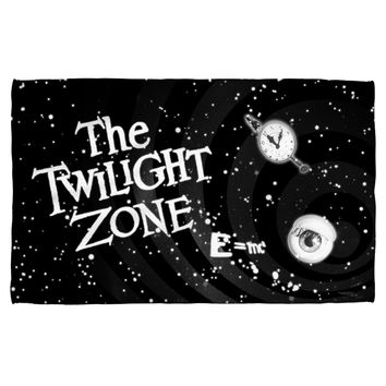 TWILIGHT ZONE/ANOTHER DIMENSION-BEACH TOWEL-WHITE-36x58