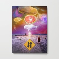 The Day of the Jellies Metal Print by Peter Gross