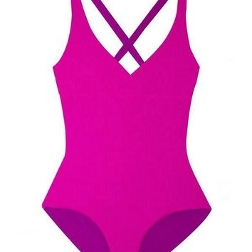 MAYLANA Collins Pop Ribbed One Piece