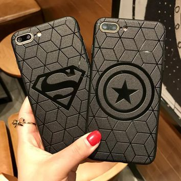 Batman Dark Knight gift Christmas Ruo Dawn 2018 New Cartoon Shell For iphone X 6 6S 7 8 Plus Relief Phone Cases Soft Silicone Spiderman Batman Icon Back Cover AT_71_6