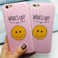 Stripe Smiling Face iPhone 5se 5s 6 6s Plus Case Cover + Nice Gift Box 358-170928