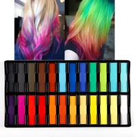 Kit 24 Color Hair Color Dye Temporary Hair Chalk
