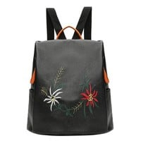 Ellery Floral Embroidered Backpack