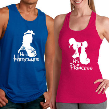Personalized Couples Hercules Tee Shirts Customized Disney Tank Tops Hercu