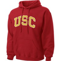 USC Trojans Cardinal Tackle Twill Hooded Sweatshirt