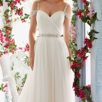 Soft Tulle Gown by Voyage by Mori Lee