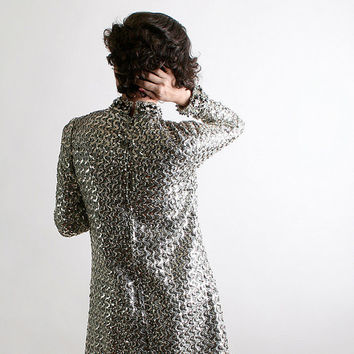 Vintage Sequin Dress Joan Leslie by Kasper Silver Sequin by zwzzy