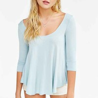 Kimchi Blue Shadow Scoop Neck Top