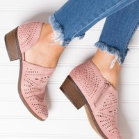 Take It For Me Not Rated Cutout Booties (Blush)