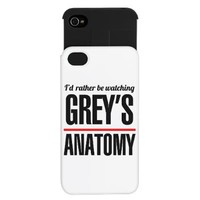 Id rather be watching Greys Anatomy iPhone Wallet> Grey's Anatomy TV Store