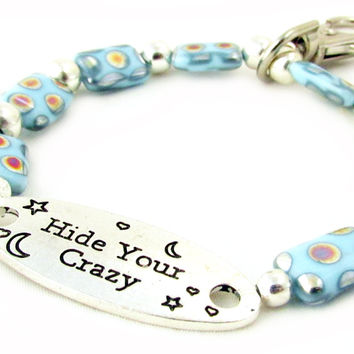 Hide Your Crazy Keychain Bracelet,