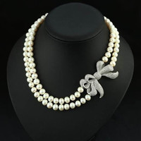 Freshwater Pearl Princess Collar Necklace