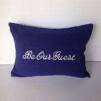 Pillows with words, Be our Guest Pillows, House Warming Gifts, Guest Room Pillows, Housewarming Gifts