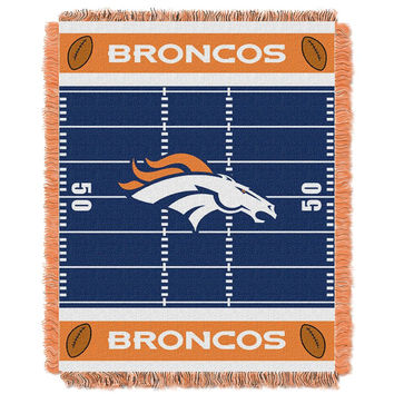 Denver Broncos NFL Triple Woven Jacquard Throw (Field Baby Series) (36x48)