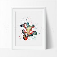 Mickey Mouse 5 Watercolor Art Print