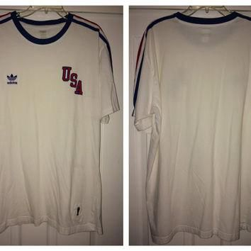 Sale!! Vintage Adidas USA Soccer Shirt FIFA World Cup 1974 Football Jersey