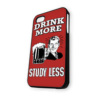 Beer Drink More Study Less Vintage M iPhone 5C Case