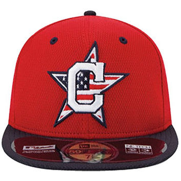 New Era 59fifty MLB 2014 4th July Stars & Stripes Hat Cap 7 3/8 Cleveland Indians