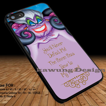 Ursula Mermaid Poor Unfortunate Souls iPhone 6s 6 6s+ 5c 5s Cases Samsung Galaxy s5 s6 Edge+ NOTE 5 4 3 #cartoon #disney #animated #theLittleMermaid DOP254