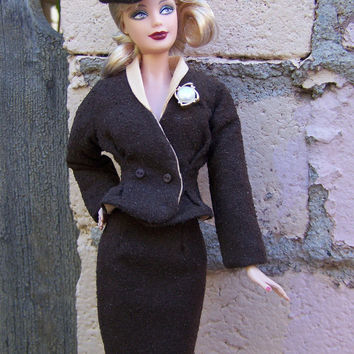 """OOAK """"Time to Boogie"""" 1940s wartime suit for model muse Barbie"""
