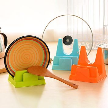 Home Cutting Board Rack Holder Multi-purpose Plastic Kitchen Pot Pan Lid Cover levert dropship 2jul21