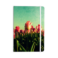 "Robin Dickinson ""How Does Your Garden Grow"" Pink Flowers Everything Notebook"