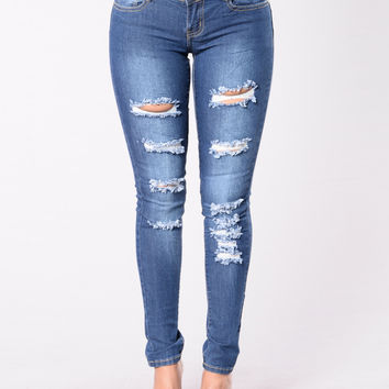 How To Work My Body Jeans - Medium Blue