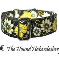 Martingale Collar: Poppies and Daisies (1.5 Inch), Dog Collar, Greyhound Collar, Custom Dog Collars