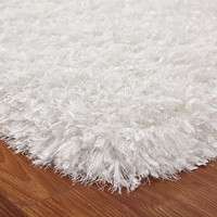 Crystal Shag White Hand Tufted Area Rug