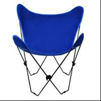 Algoma Net Company 4053-55 Black Butterfly Chair with Royal Blue Cover