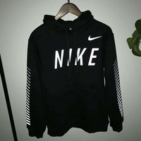 Nike Fashion Casual Long Sleeve Sweater Pullover Hoodie Sweatshirt Black G-A-HRWM