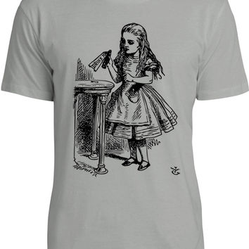 Alice in Wonderland - Drink Me (Black) Mens Fine Jersey T-Shirt