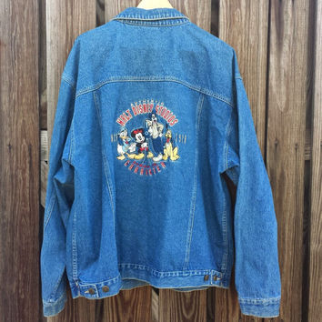 VINTAGE Disney Studios Jean Jacket - Always in Character - Men's Size XL