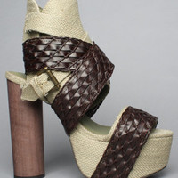The So Much Shoe in Khaki and Coffee by Jeffrey Campbell Shoes | Karmaloop.com - Global Concrete Culture
