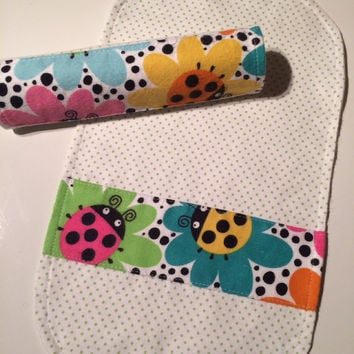 Baby burpcloth - Flannel - Baby shower gift - Flannel burp cloth - Baby burp cloth - Burp rags - Two burp cloths - Burp cloth set - Gift set