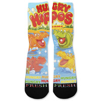 Hungry Hippos Custom Athletic Fresh Socks