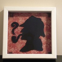 Sherlock Holmes Inspired Silhouette by storybooksilhouettes