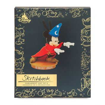 Disney Mickey Mouse Sketchbook Ornament Set The Sorcerer's Aprentice May New