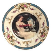 Antique Altered Plates Star Wars